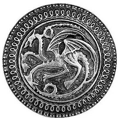 Game Of Thrones Targaryen Dragon Shield Collectible House Crest Badge Gift Box 2
