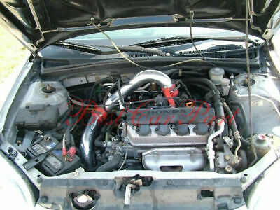 BCP BLACK 2001 2002 2003 2004 2005 Civic 1.7L L4 MT Cold Air Intake Filter