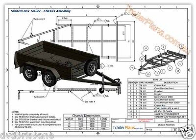 Trailer Plans - TANDEM AXLE BOX TRAILER PLANS - 3 sizes included - PLANS ON USB 9