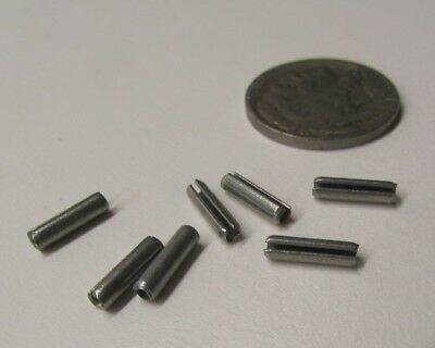 """Zinc Plate Steel Slotted Roll Spring Pin, 3/32"""" Dia x 3/8"""" Length,  500 pcs 9"""