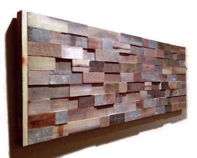 Handmade Barn Wood Wall Art Modern Abstract Artwork Unique Art Rustic Decor