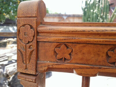 Antique carved-back spindle chair with petit-point seat 3