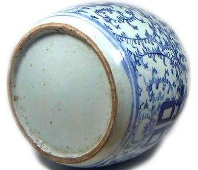"Huge Antique 19thC China Hand Painted Porcelain Blue+White ""Ming Style"" Vase 4"