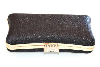 6f5d944551 ... POCHETTE NERA ORO borsello clutch donna elegante borsa borsetta  cerimonia E160 3