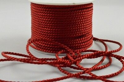 Rattail rope cord 2mm 3 lengths jewellery laces string satin shamballa kumihimo 3