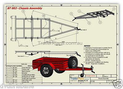 Trailer Plans - 2500kg FLATBED, BOX & MOTORBIKE TRAILER PLANS - Plans on CD-ROM 7