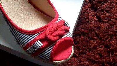 Et Compensées Texto T Eur Rouge Sandales Femme Bleu 24 39 Neuve lFK1cTJ