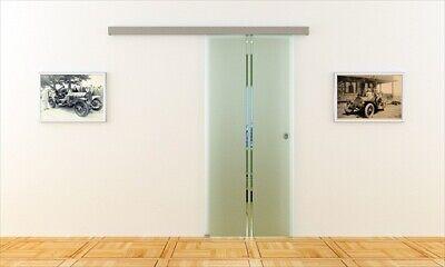 Glasschiebetür komplett 900 x 2050 mm ESG-Glas - Made in Germany Glasschiebe-Tür