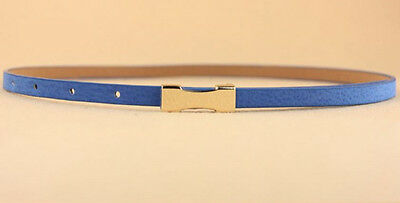Ladies Slim Fashion Waist Belt Dress Access Thin Skinny PU Leather Belt Women 12