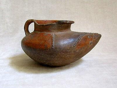 "Pre-Columbian Early Mayan Pottery ""Shoe"" Jar - 200 BC 2"