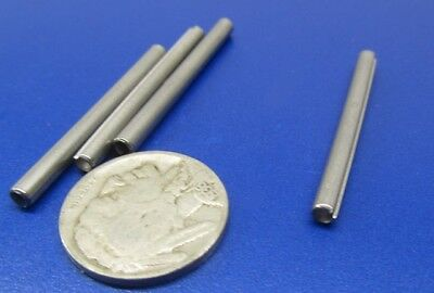 """420 Stainless Steel, Slotted Roll Spring Pin, 1/8"""" Dia x 1 1/2"""" Length, 100 pcs 9"""