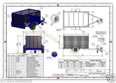 Trailer Plans - OFF ROAD CAMPER,TANDEM BOX & CAGE TRAILER PLANS -Plans on CD-ROM 8