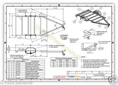 Trailer Plans - CAGE TRAILER PLANS - 3 sizes - 7x4, 8x5 & 9x5ft- PLANS ON CD-ROM 6