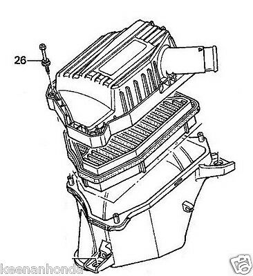 Genuine Oem Honda Engine Air Filter Box Cover Screw 5x28 Lid Bolt