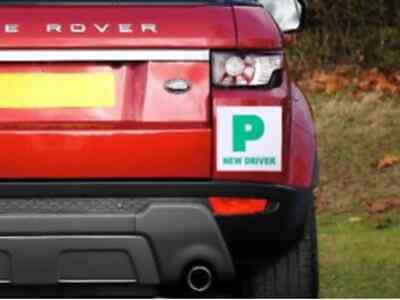 2 x Fully Extra Strong Magnetic Car P Plates Learner Driver Just Passed 3