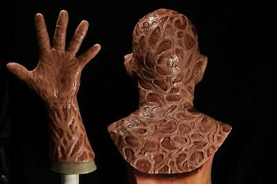 Halloween freddy silicone mask hand incubus deluxe flesh version 4