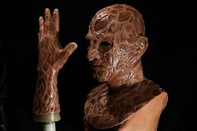 Halloween freddy silicone mask hand incubus deluxe flesh version 6