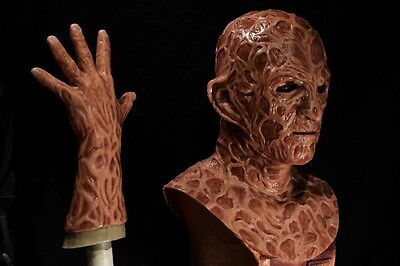 Halloween freddy silicone mask hand incubus deluxe flesh version 2