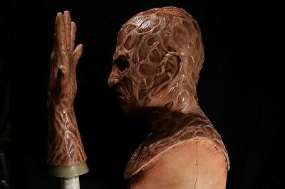 Halloween freddy silicone mask hand incubus deluxe flesh version 5