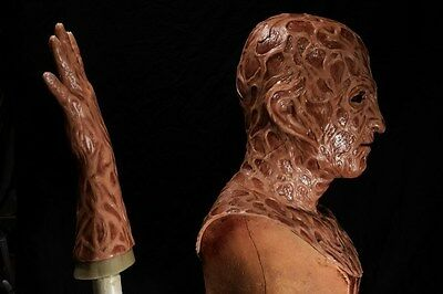 Halloween freddy silicone mask hand incubus deluxe flesh version 3