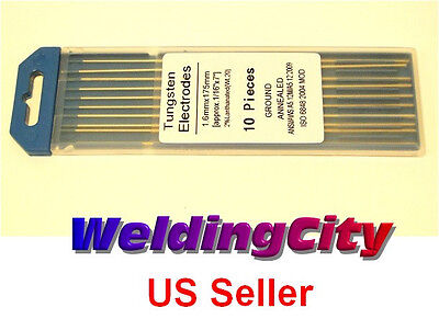"10-pk TIG Welding Tungsten Electrode 2% Lanthanated Blue 1/16""x7"" US Seller Fast"