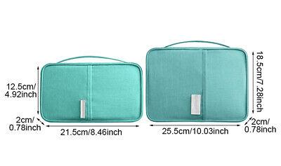 Travel Wallet Family Passport Holder Accessories Document Organizer Bag Case 12