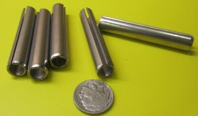 "420 Stainless Steel, Slotted Roll Spring Pin, 7/16"" Dia x 2 1/2"" Length, 5 pcs 2"