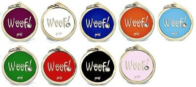 Personalised Engraved Pet ID Collar Tags Cat Dog Various Designs FREE UK DEL 2