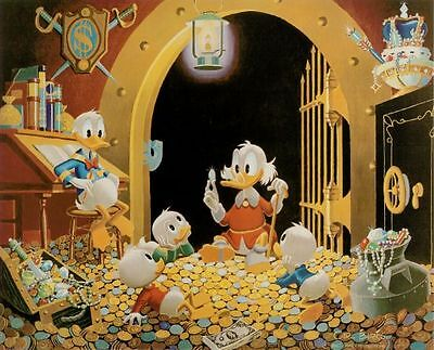 Rare! Silver Plated Walt Disney The First Euro of Uncle Scrooge LE of 7777 Coin 2
