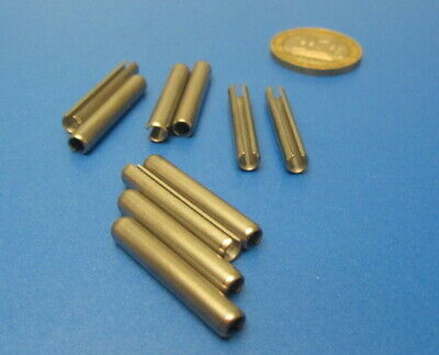 18-8 Stainless Steel Slotted Metric Spring Pin M4 Dia x 26 mm Length, 30 pcs 10