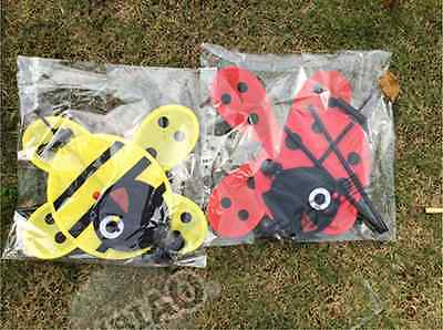 2 Of 11 New Bee Ladybug Garden Yard Outdoor Décor Windmills Wind Spinners Decoration