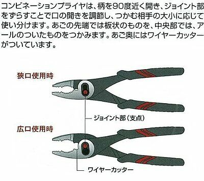 KTC NORMAL GRIP TYPE COMBINATION PLIERS // PJ-150A,200A,250A MADE IN JAPAN