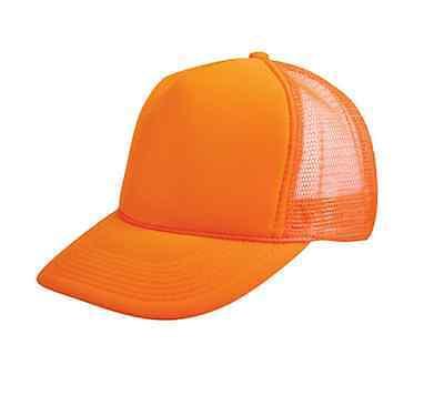 ... 1 Dozen Blank Neon Foam Mesh Trucker Hats Caps Solid Two Tone Wholesale  Bulk 4 dcfc5526cb36