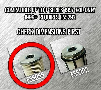7 3l turbo diesel 3 oil & 3 fuel filters (no cap) for ford