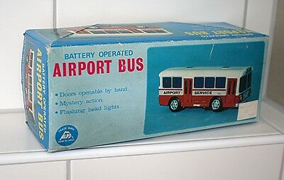Original Alps Airport Service Bus aus den 70ern, Blech, OVP, Super Zustand 6