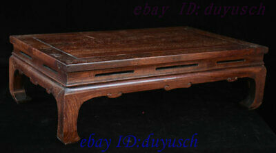 "24"" Old Chinese Huanghuali Wood handcrafted Furniture table Desk Tables Statue 5"