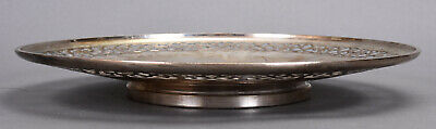 Old Whiting Sterling Silver Plate Reticulated Border w/ Butterfly Insert 3