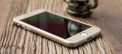 Coque Etui + Verre Trempe Protection Integrale 360 iPhone 6 6S 7 8 Plus X 5S SE 8