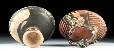 Greek Apulian Lidded Lekanis w/ Herakles Knot Lot 33C
