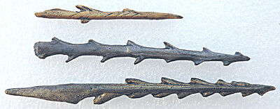 Set of 3 toothed harpoons - casts of resin 2