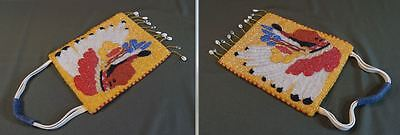 Very Fine Native American Nez Perce Yakama Umatilla Beaded Bag Indian Chief