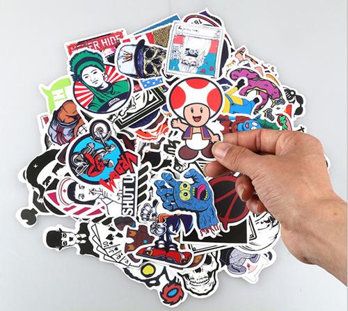 100pcs Sticker Bomb Graffiti Vinyl For Car Skate Skateboard Laptop Luggage Decal 2