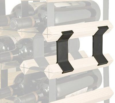 Wine Rack Connection Clips - Join Two or More Timber Wine Racks Together 3