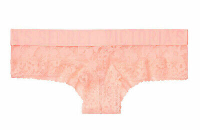 L Neon Yellow All Over Floral Lace THE Lacie LOGO Victorias Secret CHEEKY Pantie