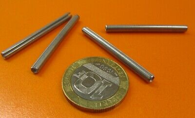"""18-8 Stainless Steel, Slotted Roll Spring Pin, 1/8"""" Dia x 1 1/2"""" Length, 100 pcs 4"""
