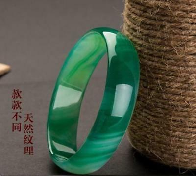 100%Natural green Jade Bangle Bracelet beautiful Jadeite Bangle 58mm-64mm free 2