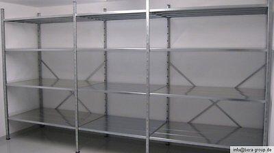 schwerlast regal stahlregal metallregal grundregal anbauregal verzinkt 2 2 5 3 eur 119 99. Black Bedroom Furniture Sets. Home Design Ideas