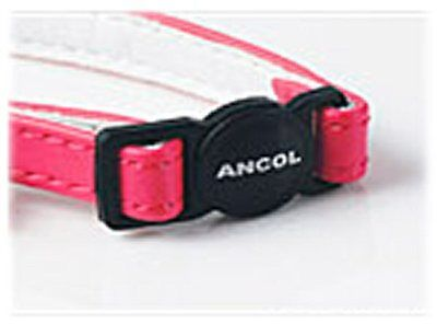 Ancol Deluxe Jewel Cat Collar with Bell ,Safety Buckle in Black, Pink , Blue