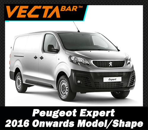 Peugeot Expert 2016-2018 COMPACT L1 Model Free Load Guard Stops 2 x Vecta Van Roof Rack Bars