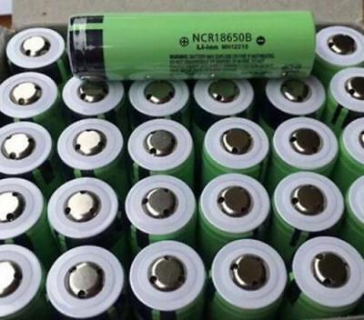 6XGenuine Panasonic Protected NCR18650B 3400mAh Li-ion PCB Battery Made in Japan